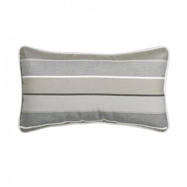 """Outdoor Throw Pillow Rectangular Boardwalk Stripe 12""""x21"""""""