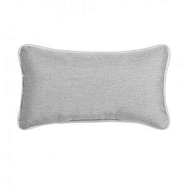 """Outdoor Throw Pillow Rectangular Heather Grey 12""""x21"""""""