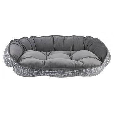 Crescent Bed Tribeca (Dusk Microvelvet)