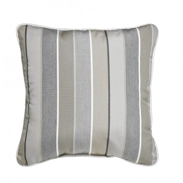 "Outdoor Throw Pillow Square Boardwalk Stripe 16""x16"""
