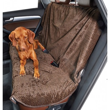 Chocolate Bones Back Seat Cover