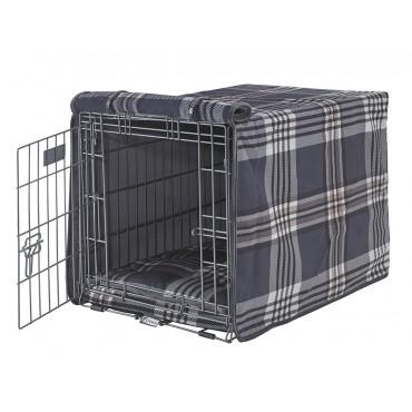 Luxury Crate Cover Greystone Tartan
