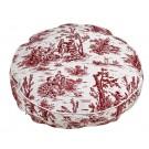 Super Soft Round Raspberry Toile
