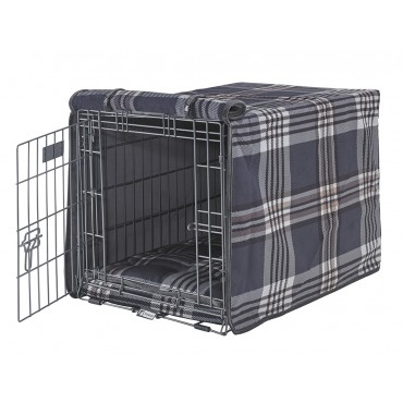 Luxury Crate Cover Greystone Tartan