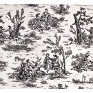 Fabric by the Yard Onyx Toile