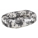 Donut Bed Onyx Toile