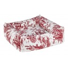 Dutchie Bed Raspberry Toile